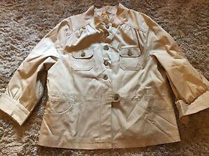 OLD NAVY Khaki/sand 3/4 Sleeves Trench coat Jacket Sz. Xxl New!