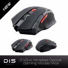Black 2.4GHZ 6D Button Wireless USB Receiver PC Laptop Desktop Gaming MOUSE MICE