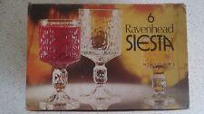 Vintage retro set of 6 Ravenhead Siesta glasses new in original box