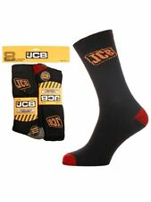 JCB MENS WORK SOCKS BLACK THERMAL COTTON IDEAL FOR CONSTRUCTION & STEEL TOECAPS