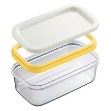 Covered Butter Dish Sealing Box Holder With Lid Kitchen Fridge Container Clear