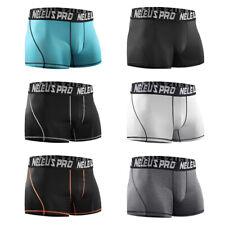Men Compression Crossfit Shorts Sports Underwear Boxer Brief Running Jogging GYM