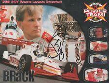1999 Kenny Brack signed Power Team Aurora Dallara Indy Car postcard