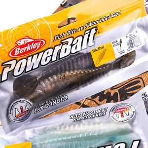 "BERKLEY POWERBAIT Slim Shad Paddle Tail Soft Plastic Swimbait 6"" 2ct - PICK"