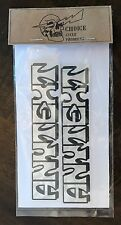 2 DECALS *ANY TEXT* silver leaf cafe racer dirt street tracker helmet number