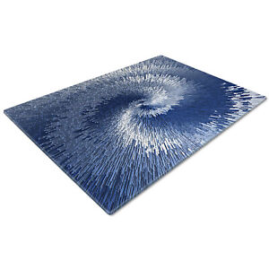 Glass Chopping Cutting Cutting Board Work Top Saver Large Blue Navy Chic