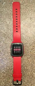 Pebble Time Red Smart Watch 501- Kickstarter version (rare)