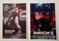 2 carte postale cinéma film ROBOCOP I et II