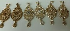 New Bollywood Elegant Indian Earrings costume  in lct/white gold  jewellery