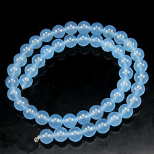 "Natural 8mm Brazil Faceted Aquamarine Gems Round Loose Beads 15 ""AAA"