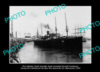 OLD LARGE HISTORIC PHOTO PORT ADELAIDE SA TROOPS GOING TO THE BOER WAR c1902