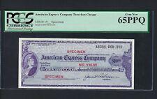 Unites State American Express Cheque 10$ Specimen Uncirculated