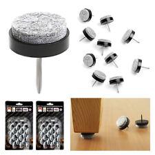 48 Wood Furniture Felt Pad Round Nail-on Slider Floor Protector Chair Tables Leg