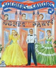 Vintage 1940 Soldiers Sailors House Party Paper Doll Laser Reproduction~Uncut