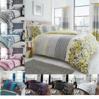 Duvet Cover Set Double Single Super King Size Pillowcases New Printed Polycotton