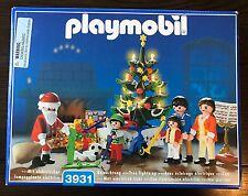 Playmobil 3931 Christmas Room w/ Family, Santa, Toys, & Light Up Tree - Complete