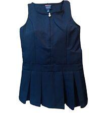 French Toast Girls Jumper Sleeveless Navy Blue Pleated Skirt Size 6