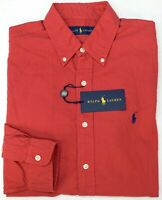 NWT $89 Polo Ralph Lauren Red Long Sleeve Shirt Mens Size M XXL Oxford NEW