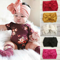 Newborn Baby Girls Bow Knot Elastic Headband Toddler Turban Hair Band Headwear