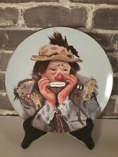 """Collector 8.5"""" Plate """"Why Me"""" By Charlotte Kelly 1983 Flambro Decorative Signed"""