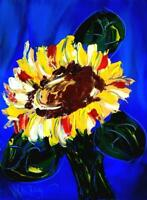 SUNFLOWERS   SIGNED  Original Oil Painting on canvas IMPRESSIONIST