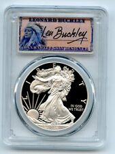 2016 W $1 Proof American Silver Eagle 1oz PCGS PR69DCAM Leonard Buckley