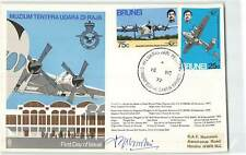 BRUNEI 1972 RAF MUSEUM ON SIGNED FDC TO HENDON
