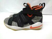 Nike Lebron Soldier XI SFG (GS) Safari Black Team Orange AJ5123-006 Youth Sz 6 Y