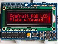 Adafruit RGB Negative 16x2 LCD+Keypad Kit for Raspberry Pi [ADA1110]