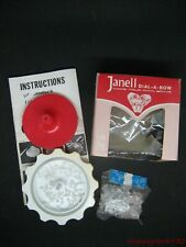 Vintage Janell Dial-A-Bow Makers Gift Wrap Instructions Floral Decor Complete