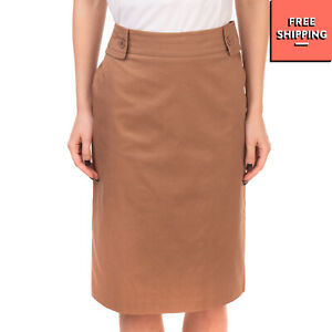 RRP €145 TAVIANI Straight Skirt Plus Size 21 / M Elasticated Waist Made in Italy