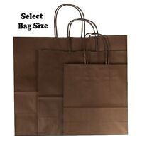 Brown Paper Gift Bags ~ Boutique Shop Party Bag ~ Pick Size Small Medium Large