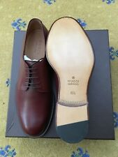 New Gucci Mens Shoes Brown Leather Lace Up UK 10.5 US 11.5 EU 44.5 322466