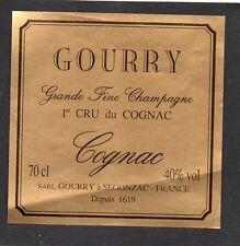 COGNAC 1ER CRU ANCIENNE LITHOGRAPHIE 19e COGNAC ERNEST GOURRY & CO   §06/03§