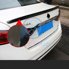 For Nissan Altima 2019 Carbon Fiber Color Rear Tail Trunk Spoiler Wing Lip Trim