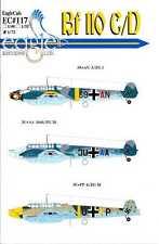 EagleCals Decals 1/72 MESSERSCHMITT Bf-110C Bf-110D Part 1