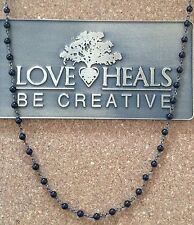 "Love Heals 18"" Black Spinal Wire Wrapped Necklace NEW Retails $89"