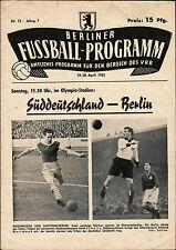 20.04.1952 Berlin - Süddeutschland (Bayern München, Eintracht Frankfurt, ...)