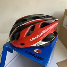 unisize L cycling helmet mtn LIMAR 675 red black ultralight visor bug vents