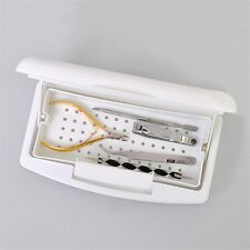 Pro Nail Sterilizer Tray Disinfection Pedicure Manicure Sterilizing Box LO