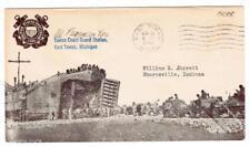 WWII PICTORIAL PATRIOTIC-LANDING CRAFT(Sepia)-UNITED STATES COAST