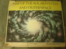 Vintage 1960 Map Of The Solar System And Outer Space Book Enterprises