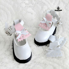 1/6 BJD Shoes Yosd Lolita White boots Shoes Dollfie Luts Dollmore AOD DIM DOD DZ