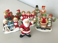 Lefton–Set Of 6 Porcelain Figurines–From 1987, 1989, 1990, 1991 & 1992 Christmas