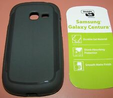 Straight Talk Gel case for Samsung Galaxy Centura/Discover, Gray Matte finish