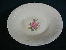 """Spode Bridal Rose / Savoy Billingsley Rose Oval 10"""" Serving Bowl Plain Trim"""