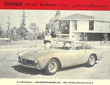 Vintage & Rare 1963 Ferrari 250 GT Berlinetta Ad Better Than Original Print