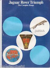 JAGUAR ROVER TRIUMPH  DAIMLER FULL RANGE BROCHURE 1977