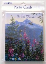 8 Leanin Tree Thank You Cards With Thanks Hummingbirds, Flowers Bright Colorful
