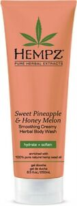 Hempz Herbal Body Wash Sweet Pineapple & Honey Melon Scent 8.5 fl.oz.